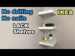 ikea lack shelf no drilling no nails