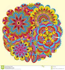 Fondo Floral Hecho De Muchas Mandalas Dimension De Una Variable