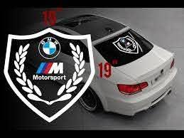 Bmw Motorsport M Logo Rear Window Vinyl Stickers Decals For M3 M5 M6 E36 All Bmw Motorsport Window Vinyl Rear Window