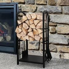 rack tall fireplace stand holder
