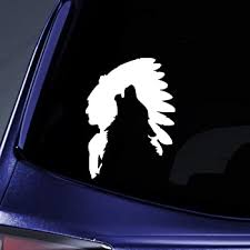 Amazon Com White Vinyl Decal Last Ride Indian On Horse Native American Fun Sticker Trail Die Cut Decal Bumper Sticker For Windows Cars Trucks Laptops Etc Automotive