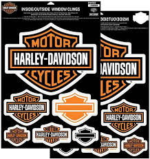 Amazon Com Harley Davidson Bar Shields Window Cling Inside Outside Double Sided Dw302 Harley Davidson Automotive