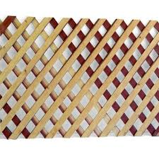 Unbranded 1 4 In X 2 Ft X 8 Ft Redwood Privacy Diamond Lattice 01141 The Home Depot