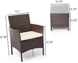 patio chair bistro set rattan chairs