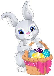Easter Bunny with Egg Basket PNG Clip Art Image | Papel de parede ...
