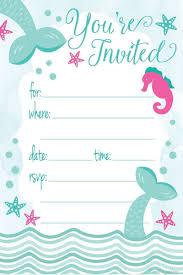 Invitaciones De Sirena Para Fiesta De Cumpleanos Estilo 113 900 En Mercado Libre