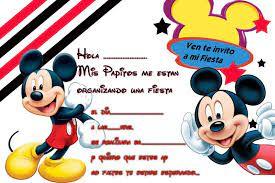 Invitaciones De Cumpleanos De Mickey Mouse Para Descargar Al