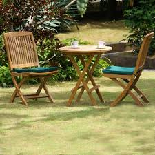 teak patio dining set for two people