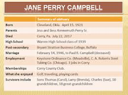 Retiring Guy's Digest: Jane Perry Campbell (1921-2017) Warren High ...