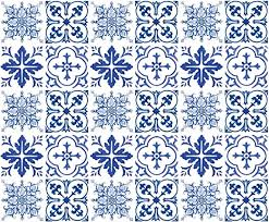 Amazon Com Wallies Wall Decals 3 X 3 Blue Tiles Wall Stickers Set Of 30 Home Kitchen