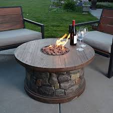 romance with outdoor propane fire pit