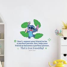 Design With Vinyl Friendship Lilo Stitch Life Quote Vinyl Wall Decal Wayfair