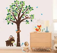 Nursery Wall Decal Wall Decals Nursery Forest Friends Decal Etsy