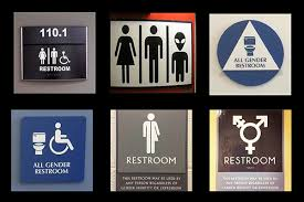 restroom signs for a non binary