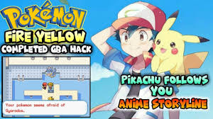 Pokemon Fire? Yellow - Completed Gba Rom Hack With Anime Story ...
