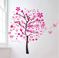 Cartoon Pink Heart Peach Tree Wall Decals Butterfly Flowers Wall Decor Decorative Painting Supplies Wall Treatments Buy High Quality Wall Decoration Stickers Heart Tree Butterfly Wall Decals Pink Tree Sticker Product On Alibaba Com