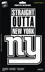 Straight Outta New York Giants Nfl Football Logo Decal Vinyl Sticker Car Truck Window Laptop New York Giants New York Giants Logo Ny Giants Football