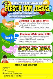 Invitacion A Una Fiesta Con Jesus Para Ninos Vidakids
