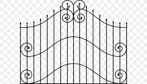 Gate Picket Fence Clip Art Png 600x469px Gate Area Black Black And White Drawing Download Free