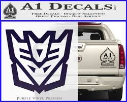 Decepticon Decal Sticker Transformers Alt A1 Decals
