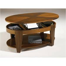 oval cocktail table with lift top