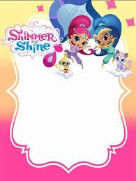 Shimmer And Shine Invitations For Girls Convite De Aniversario