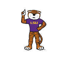 Lsu Tigers Standing Mike The Tiger 6 Die Cut Decal Purple And Gold Sports