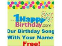 happy birthday song your happybirthday com