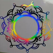 Holographic Rainbow Mandala Car Window Helmet Mug Tumbler Decal Free Shipping Ushirika Coop