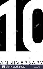10 Aniversario Logo Minimalista 10 Anos 10 De Jubileo Tarjeta