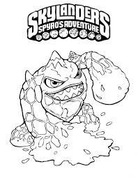 Skylanders Spyros Adventure Kleurplaat Printen 7