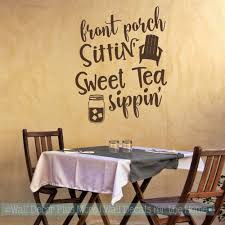 Farmhouse Wall Stickers Front Porch Sweet Tea Home Decor Art Decals