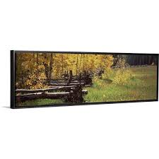 Shop Fence In A Forest Ridgway Ouray County Colorado Black Float Frame Canvas Art Overstock 25509870
