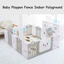 Baby Playpen Fence Indoor Palyground Park Kids Safe Guardrail Baby Game Crawling Fence Baby Play Yard 14 Pieces Set Thefashionique