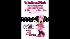 Invitacion De Cumpleanos Minnie Mouse Youtube