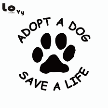 Adopt A Dog Save A Life Vinyl Car Sticker Dog Paw Sticker Removable Truck Decal Truck Decals Car Stickerdog Paw Stickers Aliexpress