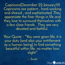 capricorn jan quotes writings by swati verma
