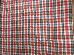 madras plaid twin comforter
