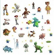 Toy Story 4 Wall Stickers 38 Decals Disney Buzz Woody Jessie Bullseye Room Decor Ebay