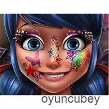 ladybug glittery makeup game play