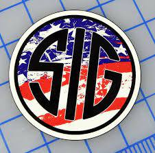Sig Sauer Firearms Usa Flag Rwb Sticker Decal 4 Gun Rifle Ar 15 Tactical Pistol For Sale Online Ebay