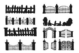 Set Of Halloween Fence Stock Illustration Download Image Now Istock