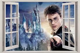 Harry Potter Hogwarts 3d Window View Decal Graphic Wall Sticker Art Mural H320 Ebay