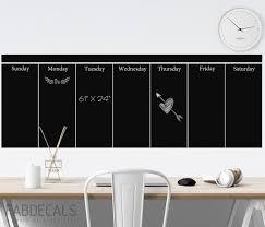 Large Chalkboard Wall Calendar Weekly Calendar Wall Decal Etsy In 2020 Chalkboard Wall Calendars Chalkboard Wall Large Chalkboard