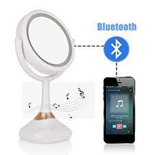 makeup mirror lamp bluetooth speaker