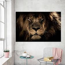 Canvas Posters Home Decor Wall Art Mane Savannah Lion Paintings For Living Room Posters Prints Abstract Animal Pictures Cuadros Painting Calligraphy Aliexpress