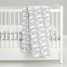 great white north flannel crib bedding