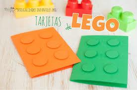 Tarjeta De Lego Manualidades Infantiles