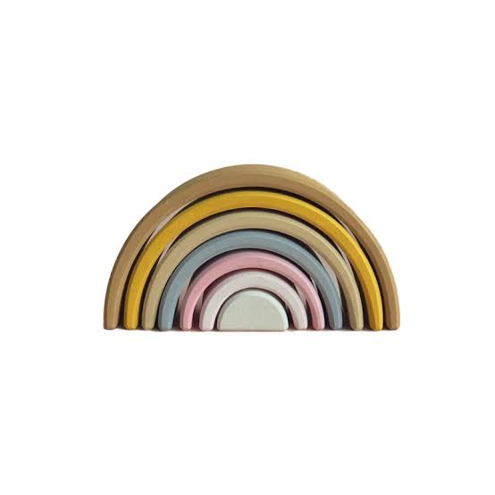 Image result for Stacking Wooden Pastel Rainbow Stacking Wooden Pastel Rainbow Raduga Grez Stacking Wooden Pastel Rainbow""