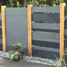 Grey Slate Fence Panelling Natural Stone Fencing Rr Stone